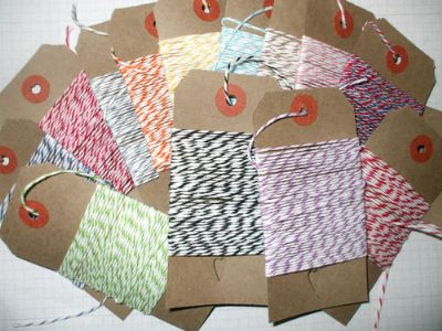 65mts ASSORTED DIVINE TWINE  13 x 5 mt Lengths on Tags